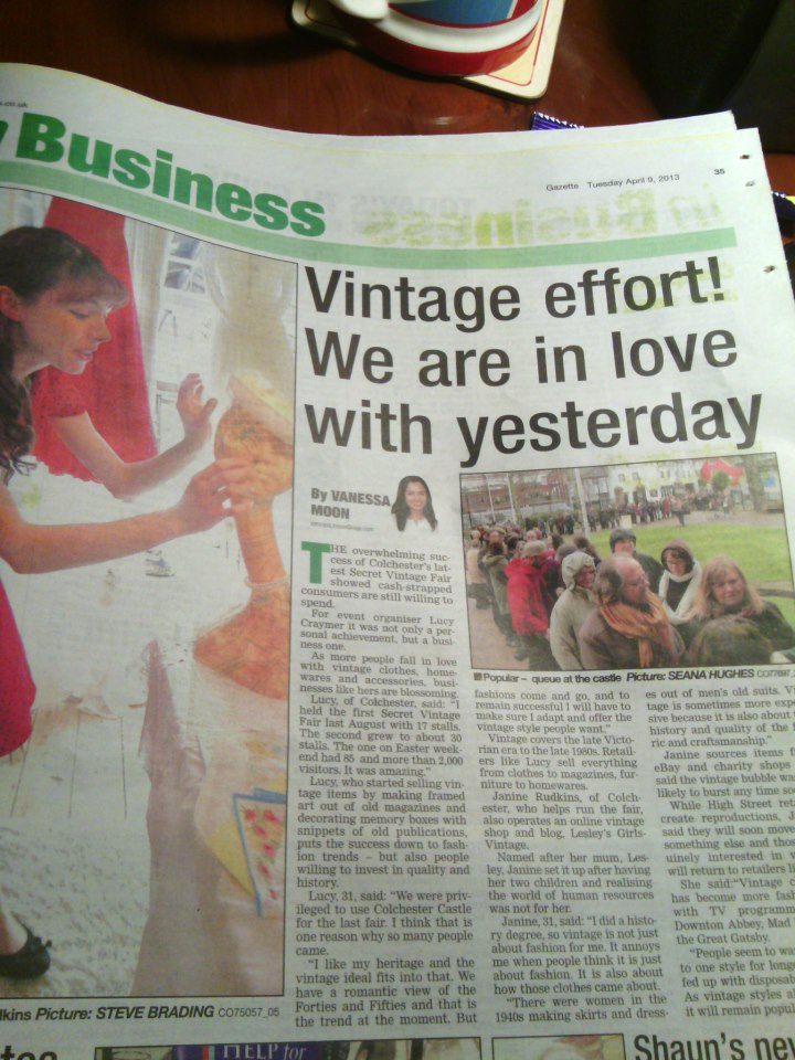 The rise of vintage featuring Lesleys Girls and Sceret Vintage