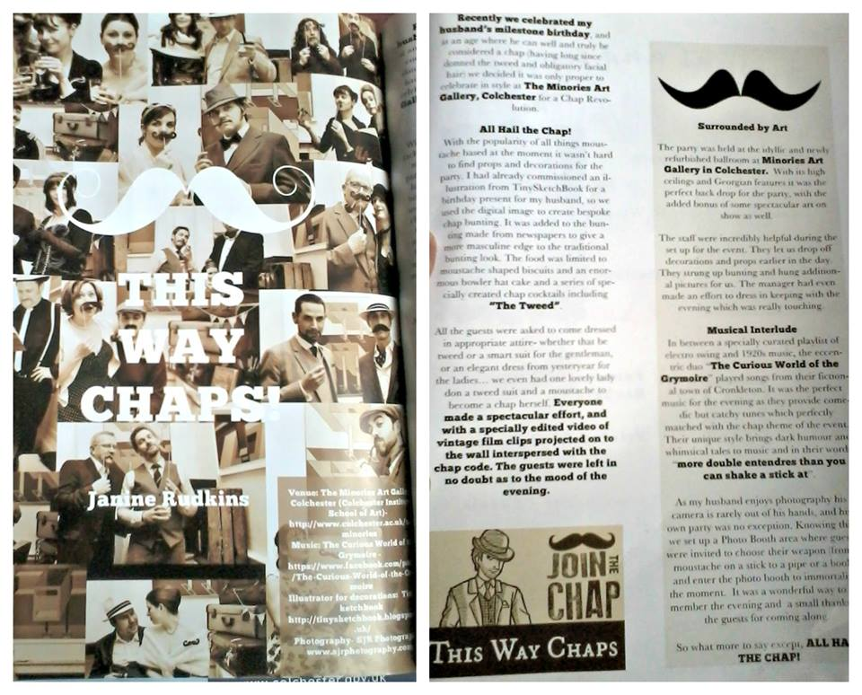 Article in Invite Magazine covering the event I organised for a Chap Party