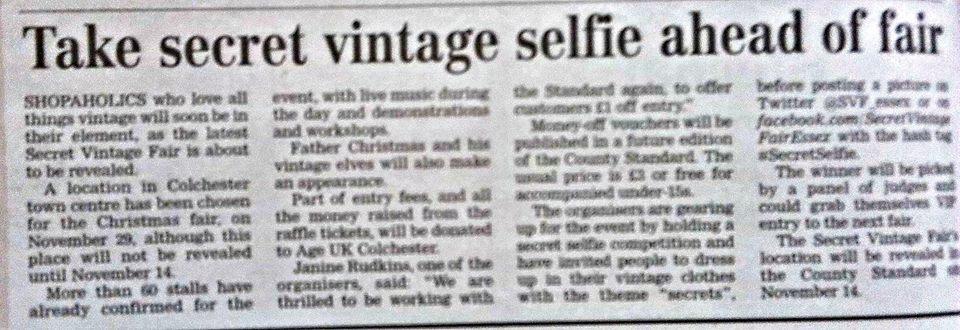 Coverage on Vintage Selfie promotion