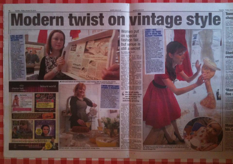 Gazette article on Vinatge