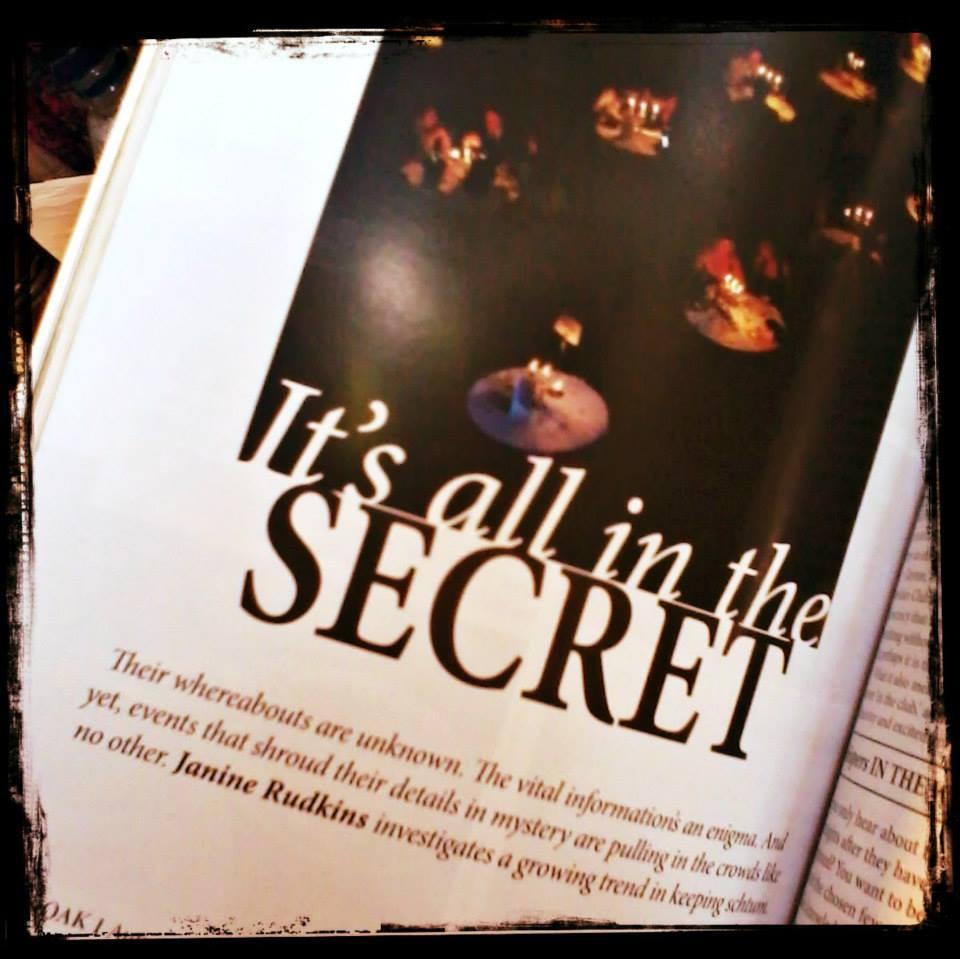 Article about Secret events in V&OAK magazine